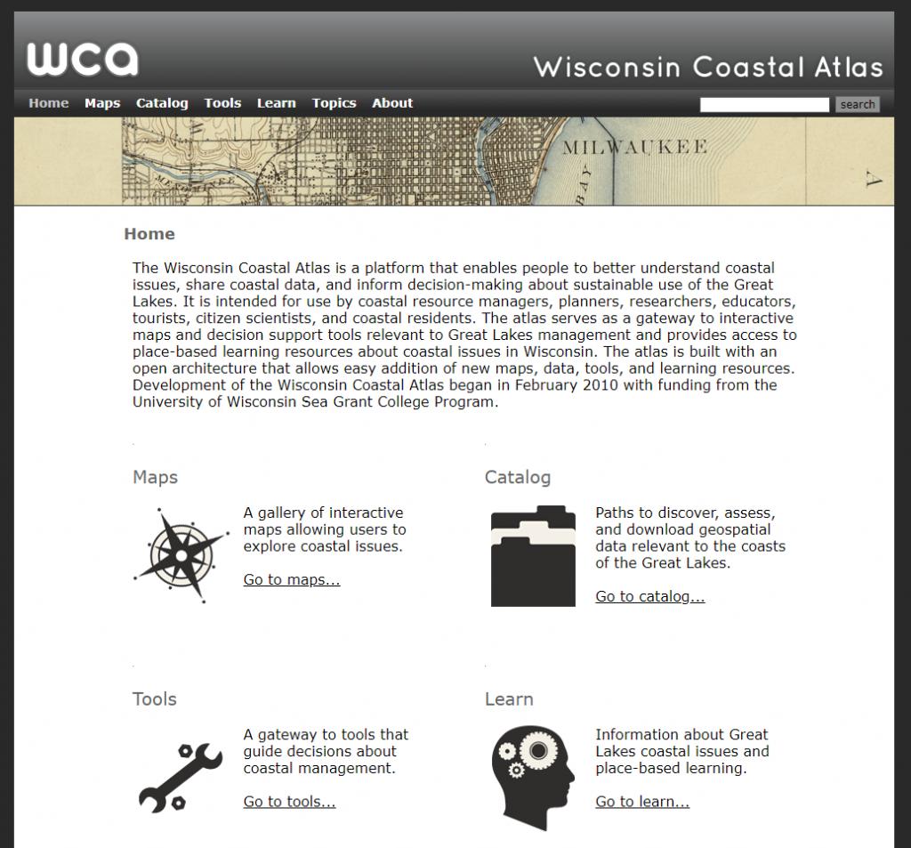 Wisconsin Coastal Atlas home page